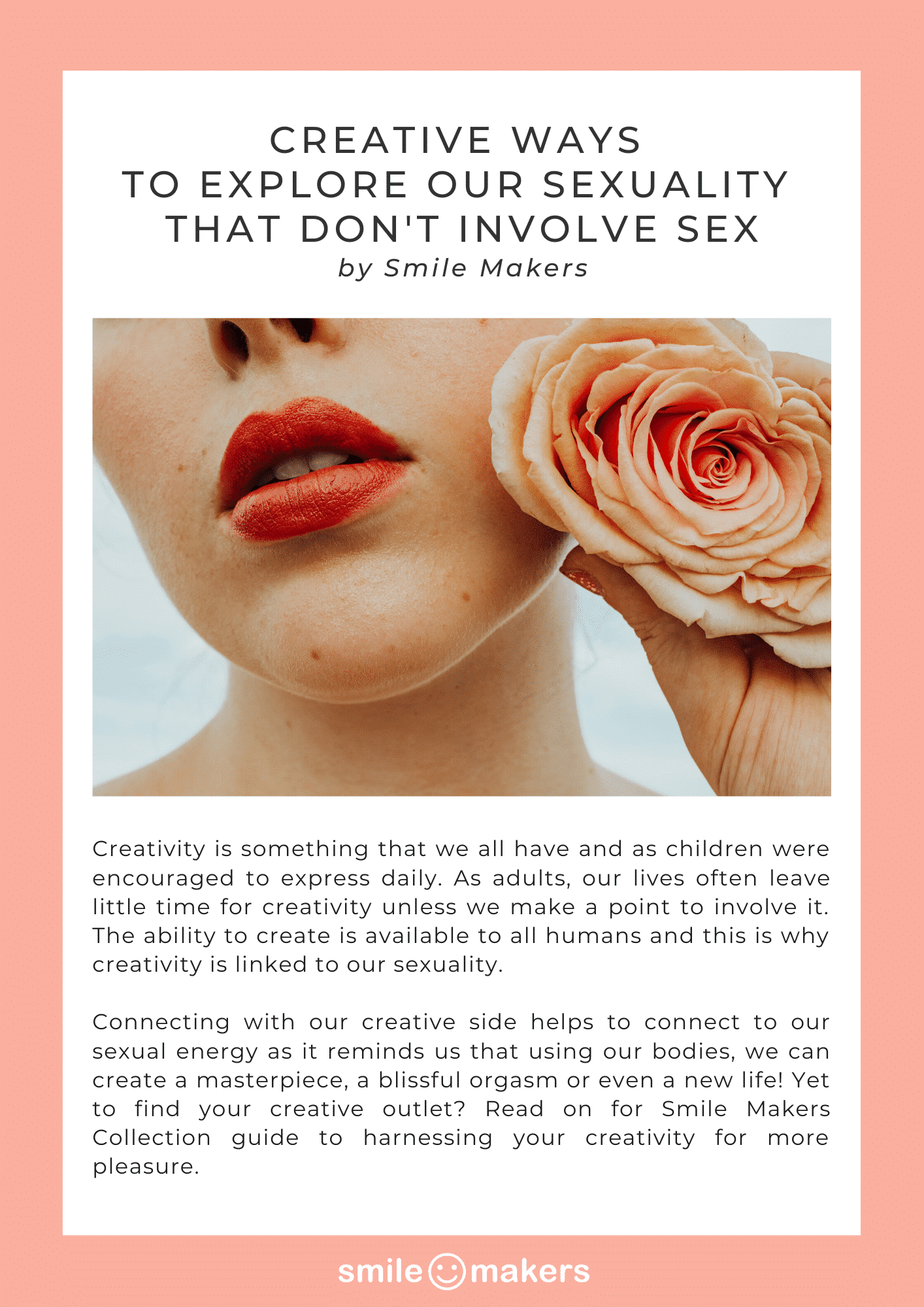 Creative Activities To Explore Our Sexuality