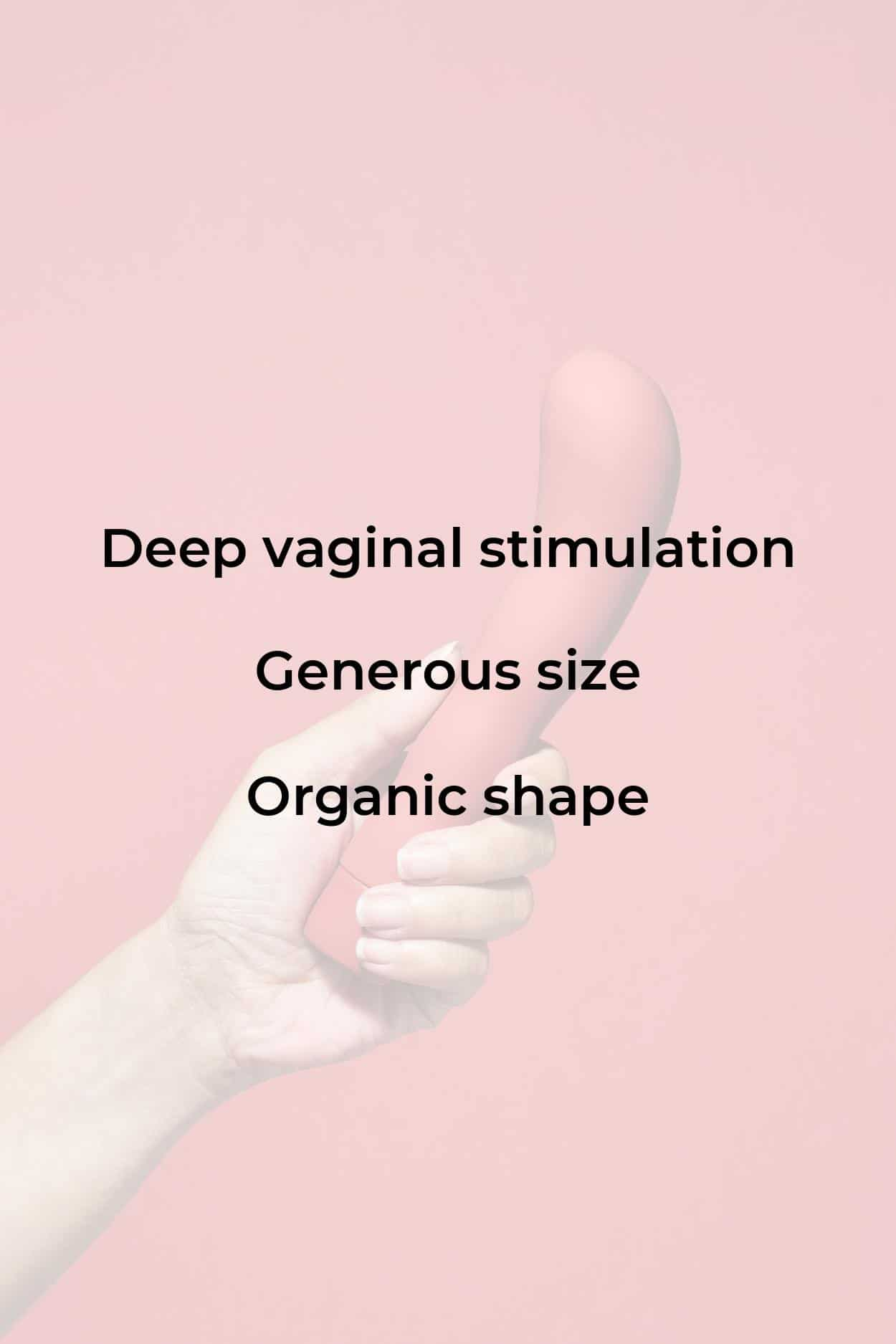 The Romantic, a vibrator for deeper vaginal stimulation with a long body